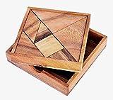 Logica Giochi art. TANGRAM - Rompicapo Geometrico in Legno Prezioso - 100 Figure in 1 - Gioco Educativo - Scatola Richiudibile