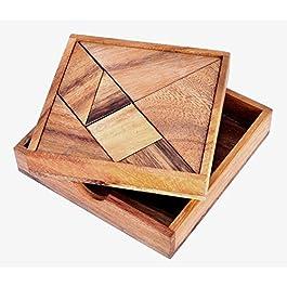 Logica Giochi, art. TANGRAM – 100 figure in 1 – Rompicapo in legno – Rompicapo Matematico – Gioco Educativo