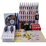Tattoo maschine set komplett 1 Tätowiermaschine 1 tattoo netzteil 20 Tätowierungsnadel 40 Tattoo-Tinte tattoo kit