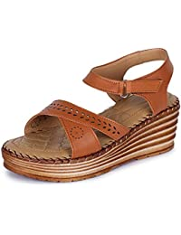 TRASE Doctor Stacy Ortho Wedges Sandals for Women (with Comfortable Doctor Sole) - 2.5 Inch Heel