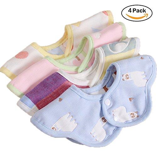 Baby lätzchen mit Ärmeln Wasserdicht Baby Fütterung Lätzchen mit langen Ärmeln Waschbare Baby Schürze für 6-36 Monate Kinder Essen Malen und Spielen (4 Pack-1)