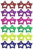 iLoveCos Moda '80 Slotted Occhiali da Stella Vetri di novità Occhiali da Sole Fancy Dress 6 Colori, 12 Accoppiamenti (Stella)