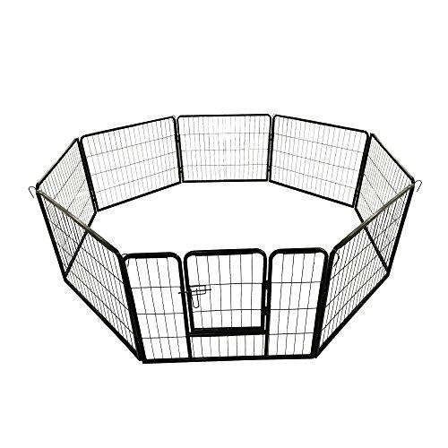 Welpenauslauf Tierlaufstell Freilaufgehege Freigehege Freilauf Auslauf Gehege Käfig Welpenzaun Petigi, Größe (B x H):80 x 100 cm (8x)