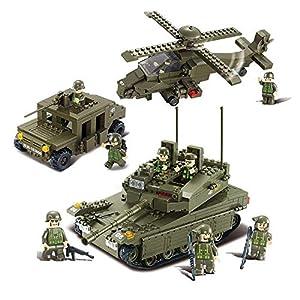 SLUBAN BRICKS, Army LF Amphibious Onrush 683 Piezas Juegos de construcción (AJ B0309)