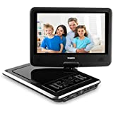 SYNAGY 9inch Portable DVD Player With Screen Portable CD Player With SD Card Slot For Cars Kids Adults & Seniors (Black)