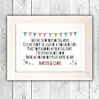inspirational words gift VA052 Personalised print christmas present for friend