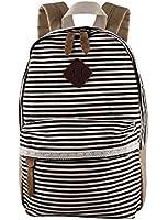 Koolertron Teenager Girls Boys Casual Daypack Fashion Pack Canvas Leather Travel Hiking Backpacks Campus School College Bookbag Rucksack Gym Shoulder Bag Portable Carry Case Bag Tablet Backpack