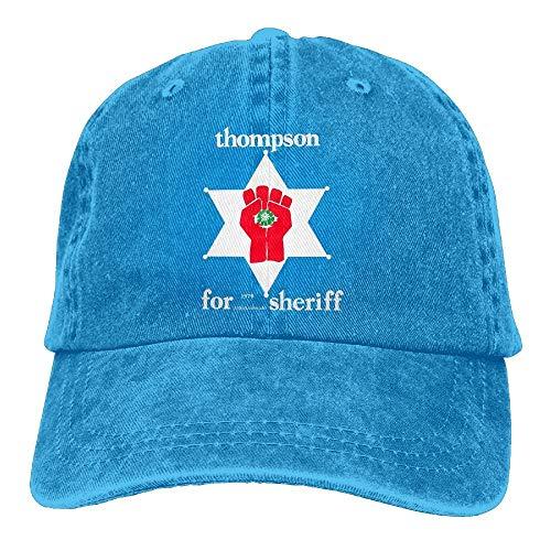 KKAIYA Thompson Sheriff Gonzo Plain Adjustable Cowboy Cap Denim Hat for Women and Men