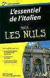 l essentiel de l italien pour les nuls de marc lesage 21 ao?t 2014 broch?