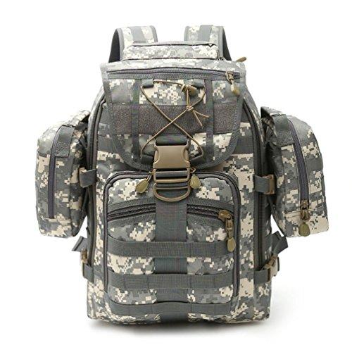 FFZH Molle campeggio zaino borse 60L litri tattico zaino militare zaino di campeggio (camuffamento ACU cachi) , E C