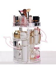 ECVISION organisateur cosmétique acrylique grande capacité 360 ° rotation maquillage entreposage/stockage Multi fonction d'affichage avec grande capacité