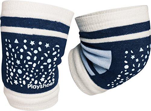 Playshoes Unisex - Baby Set 498803 Baby Knieschoner, rutschhemmend, Gr. one size, Blau (Blau)