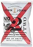 John & John Potato Crisps Sweet Chili & Red Pepper, 6er Pack (6 x 40 g)