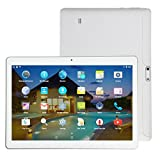 Fuibo Tablet PCs, 10,1 Zoll 4G + 64G Android 6.0 Dual Sim Dual Kamera Telefon Wifi Phablet Tablet PC (Weiß)