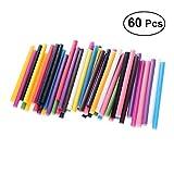 Healifty 60pcs Bâtons de Colle Chaude Coloré Multifonctionnel pour Pistolet à Colle (Couleur Mélangée)