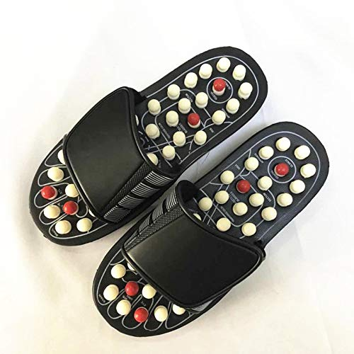 WILRND Granos giratorios de Primavera Masas de púas Zapatillas Giratorias Punto de chisme Zapatos de Masaje para la Salud Grandes (Color : Black, Size : 44/45)