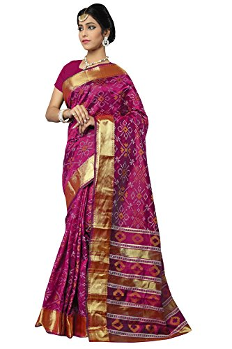 MANVAA MAGENTA COLOUR IN SILK FABRIC WITH DESIGNER weaving Saree With Blouse...