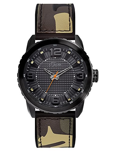 s. Oliver Men's Watch XL Analogue Quartz Rubber SO-3040/PQ