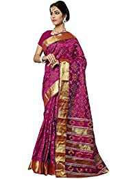 MANVAA MAGENTA COLOUR IN SILK FABRIC WITH DESIGNER Weaving Saree With Blouse Piece WITH PATOLA PRINT