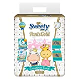 #1: Sweety Fit Pantz Gold Series Super Jumbo Pack Baby Diapers (Size: XXL Count 40)