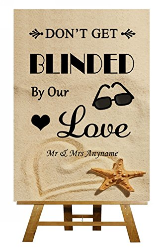 a5-beach-sand-sunglasses-favor-blinded-by-love-personalised-wedding-sign-poster