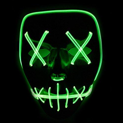 lzn leuchtet Maske aus dem Purge Wahl Jahr Maske Fest Halloween (Purge Maske)