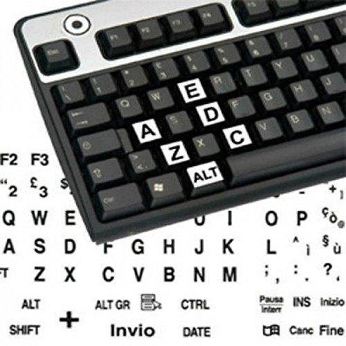 adesivitastiera. it–Autocollants clavier étiquettes grands ita fond blanc lettres noires
