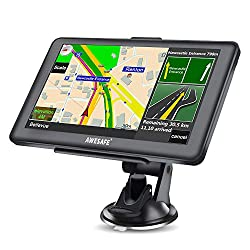 SAT NAV GPS Navigation System with Bluetooth 7-inch HD Touch Screen,Car Navigation System, Built-In 8GB&256MB,UK&EU Latest Maps Lifetime Free Updates