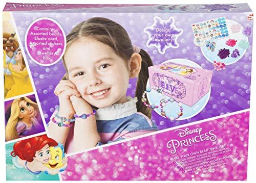 Disney Princess Machen Sie Ihre Eigene Perlen Juwelen Set Mit Aufklebern Und Schmuckkästchen Inklusive | Armband Machen Kit Kreative Handwerksgeschenke Für Mädchen