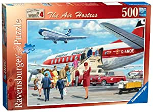 Ravensburger Happy Days at Work No. 4 - The Air Hostess, 500pc Jigsaw Puzzle