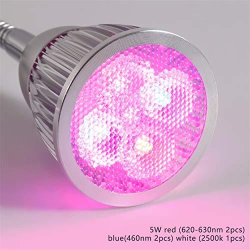 Lorenlli Lampada da tavolo a LED a luce progressiva da 35W con lampada a collo d'oca flessibile da 360 gradi per ufficio, casa, serra da giardino