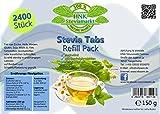 Stevia Tabs in der Refill in Dose 2400 Stk, 1er Pack (1 x 150 g)
