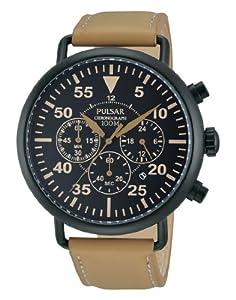 Pulsar Sport - Reloj de cuarzo para hombre, con correa de sintético, color marrón de Pulsar