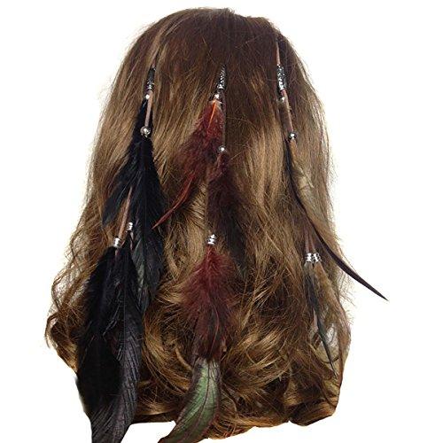 Fodattm Set von 3 handgefertigten Boho Hippie Haarverlängerungen -