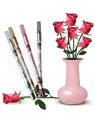 LHWY Woman Glitter Lip liner Eye Shadow Eyeliner Pen Makeup Cosmetic Sets 12 Colors