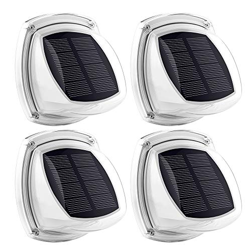 Ankway Luces solares de jardín Paquete de 4