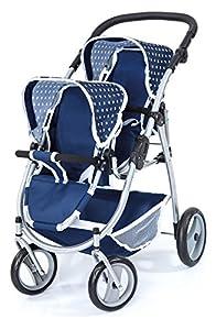 Bayer Design-26551 Cochecito de Gemelos, Buggy, Color Azul (26551AA)