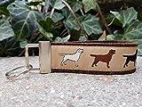 Schlüsselanhänger Schlüsselband Wollfilz dunkelbraun Labrador Hunde beige schwarz weiß Geschenk!