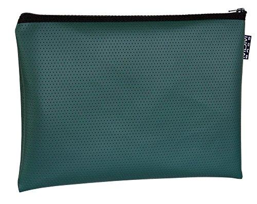 MDM Sicherheit/von der Bank Utility Reißverschluss, Coin Tasche/Forest Grün Geld Tasche. 13x9 inch waldgrün