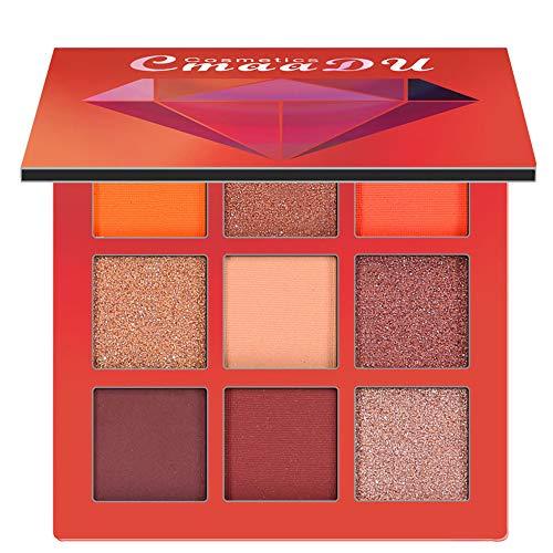 BHYDRY Cosmetic Matte Eyeshadow Cream Makeup Palette Shimmer Set 9 Farben Lidschatten