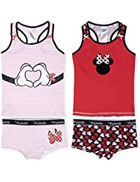 2 Vest or Cropped Tops 6-14 Years Peanuts Official Snoopy Girls Underwear Sets Bulk 4 PCS Pack 2 Knickers