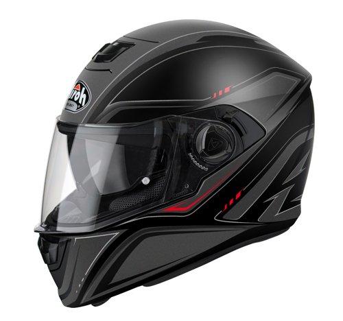 Airoh - casco moto airoh storm sprinter black matt sts11 - cast8d - l