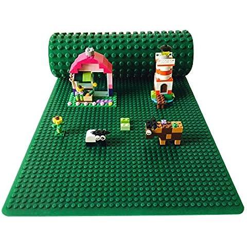 Icellent Verde silicone Brick Building stuoia del gioco , 12