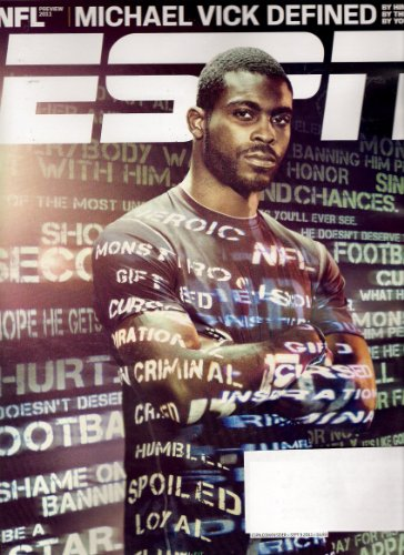 ESPN Magazine (September 5, 2011) Michael Vick Defined Special Cover Issue; NFL 2011 Preview Michael Vick, Nfl