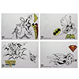 DC Comics Gadget décalcomanies réutilisable étanche Stickers, Vinyle, Multicolore, 1 x 15 x 21 cm