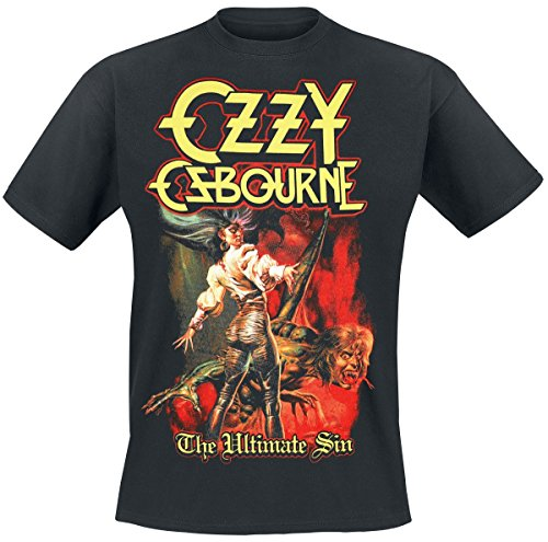 Ozzy Osbourne Ultimate Sin Cover T-Shirt Black