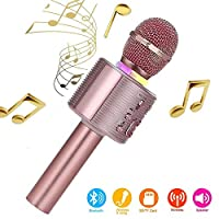 Wireless Karaoke Machine for Party Singing,Karaoke Microphones for Kids Compatible with Android and iOS Device for Home KTV Outdoor,18th Birthday Gifts For Girls