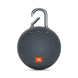 JBL Clip 3 Bluetooth Lautsprecher - Wasserdichte, tragbare Musikbox mit praktischem Karabiner - Bis zu 10 Stunden kabelloses Musik Streaming Blau