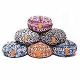 Yogakissen »Brahman« mit Reißverschluss & Bio-Dinkelspelz (kbA) Füllung - Maße: ca. 42 x 15 cm - ideal als Zafukissen / Meditationskissen / Rondokissen / Meditiationsunterlage :: waschbarer Bezug / hoher Sitzkomfort Stlye (3)