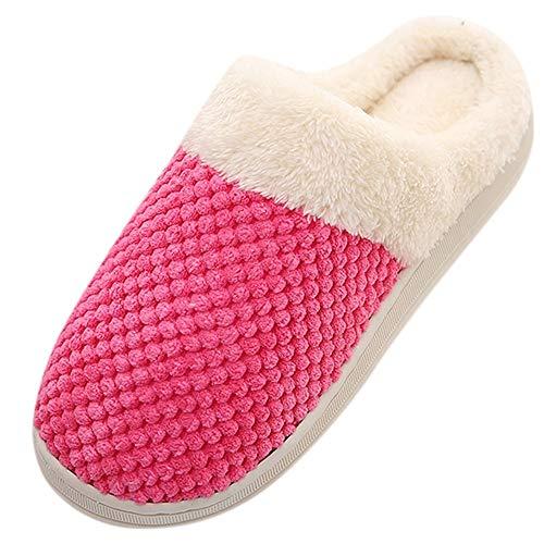 ▲Vovotrade▼ Donne Peluche Morbide Scarpe Invernali Impermeabili Pantofole di Cotone Caldo Antiscivolo per Esterni All'Aperto per Le Coppie
